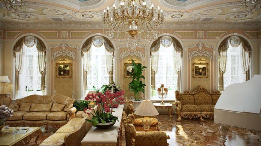 Оформление окон в стиле барокко