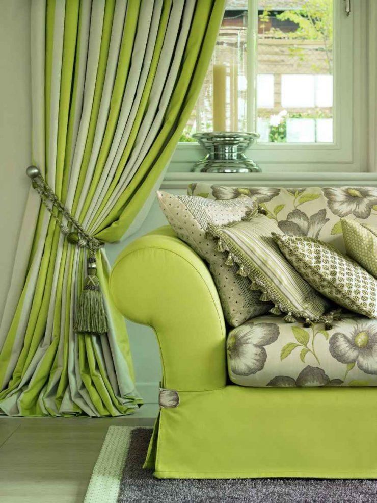 Зеленые ткани для штор