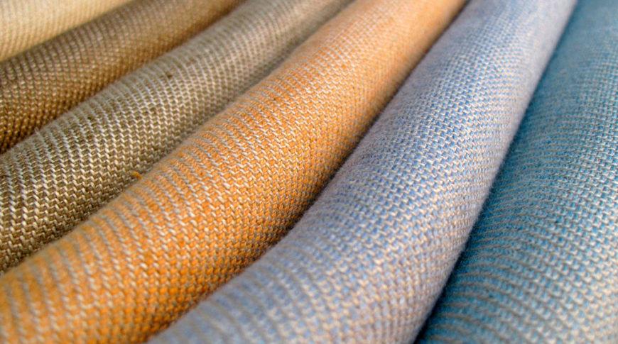 Качественная льняная ткань для штор