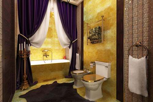 Элитные шторы для ванны