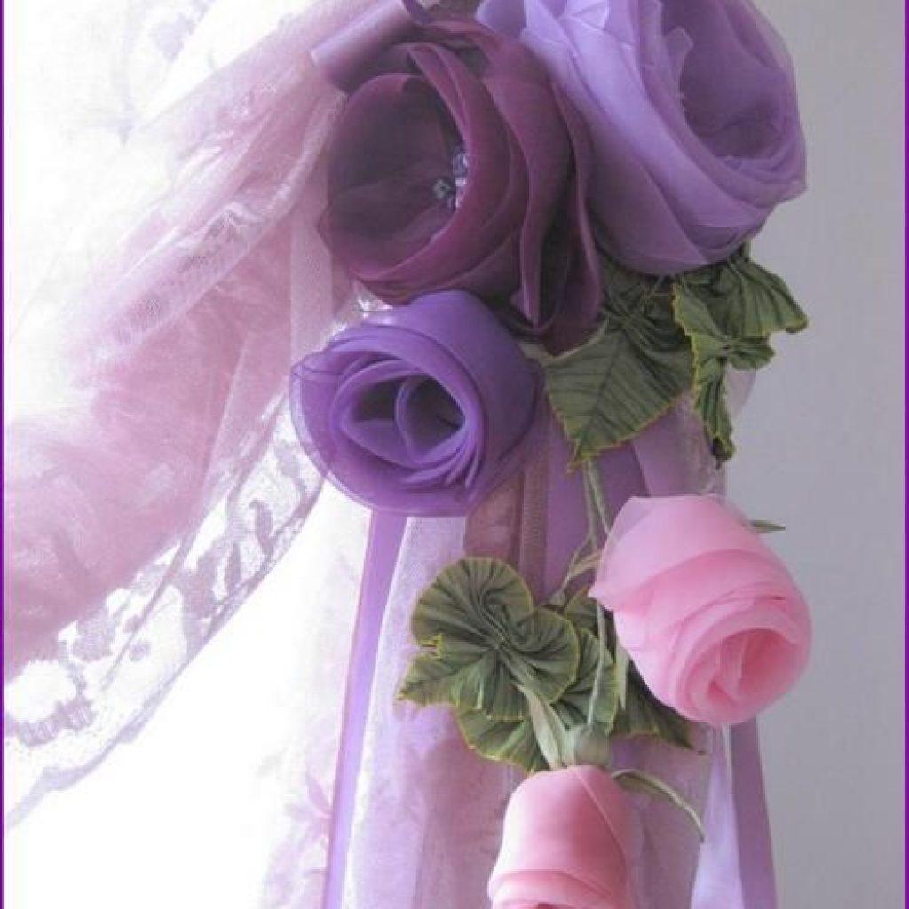 Цветы из ткани своими руками для штор  725